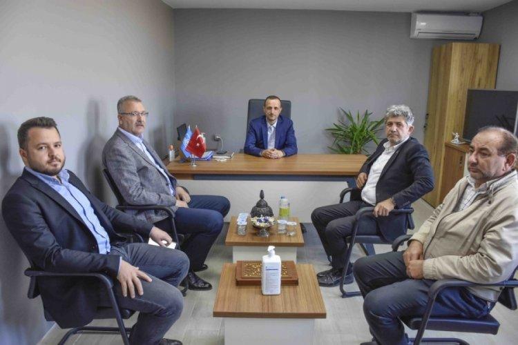 Başkan Ali Özkan'dan Yağmur ve Şahiner'e ziyaret