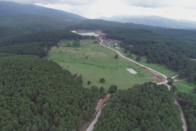Bursa Keles Kocayayla Göleti inşaatının yüzde 85'i tamamlandı