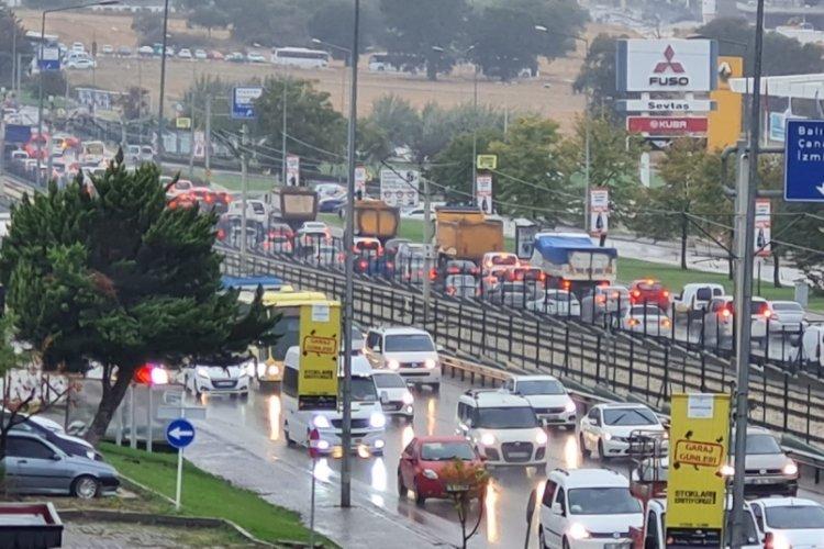 Bursa'da trafik çıldırdı!