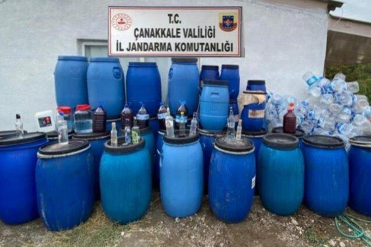 Çanakkale'de 3 bin 230 litre kaçak şarap yakalandı