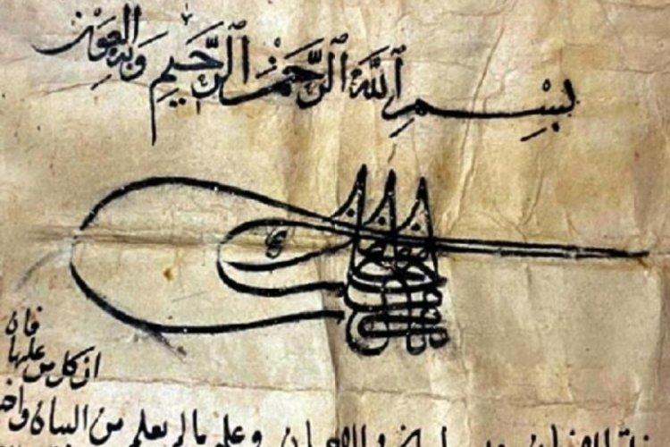 Fatih Sultan Mehmet Han'ın tuğrası bulunan 'vakfiye' Londra'da satışa çıkarılacağı iddiası üzerine harekete geçildi