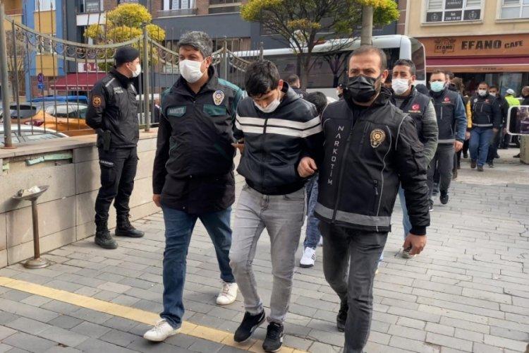Eskişehir'de uyuşturucu operasyonunda 14 kişiye gözaltı