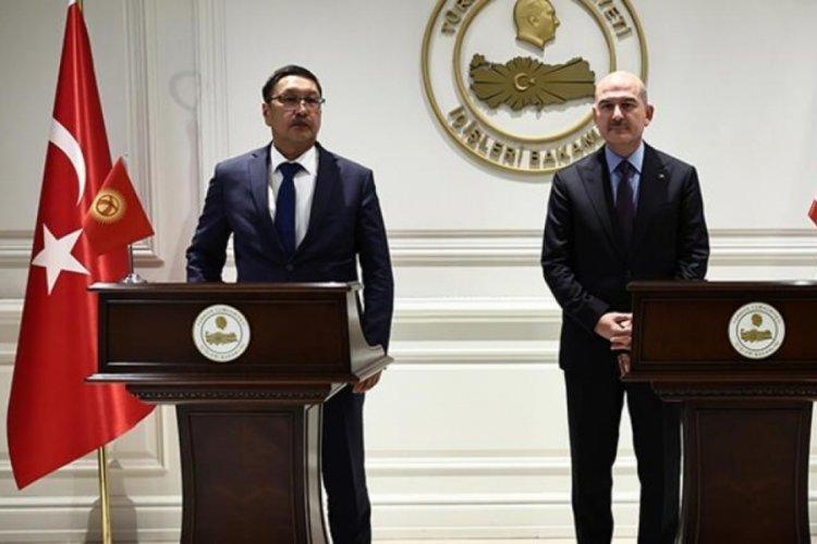 Bakan Soylu, Kırgızistan Acil Durumlar Bakanı Azikeev ile görüştü