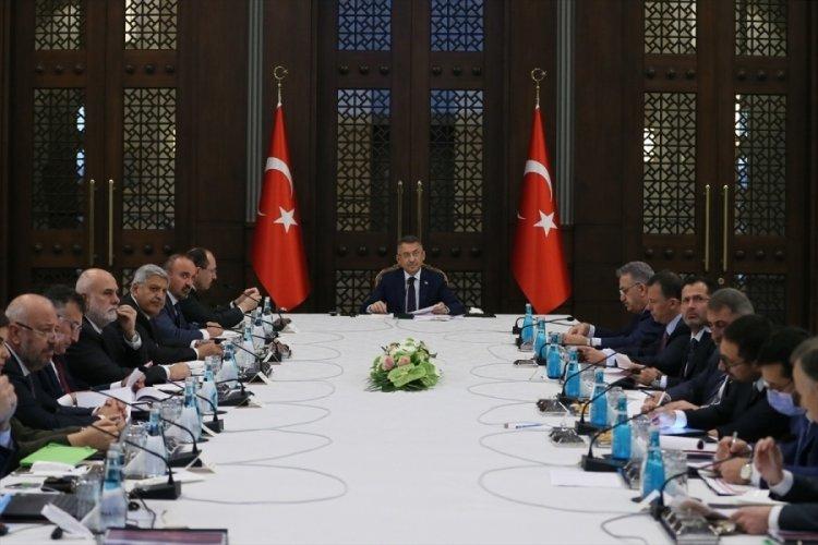 Cumhurbaşkanlığı Külliyesi'nde ihracatın geliştirilmesine yönelik toplantı düzenlendi
