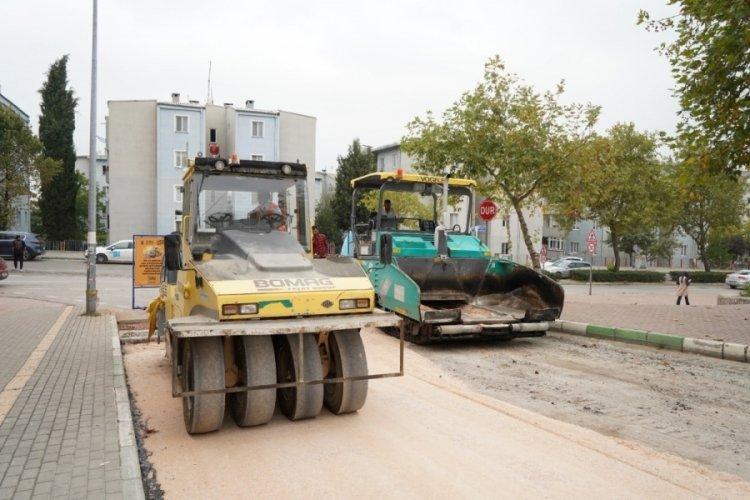 Bursa Kestel'de asfalt çalışmaları hız kesmiyor