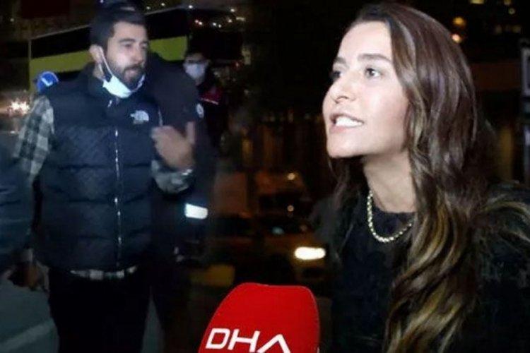 İstanbul'da polis tarafından yapılan denetimlerde bir kadın küfürler savurdu