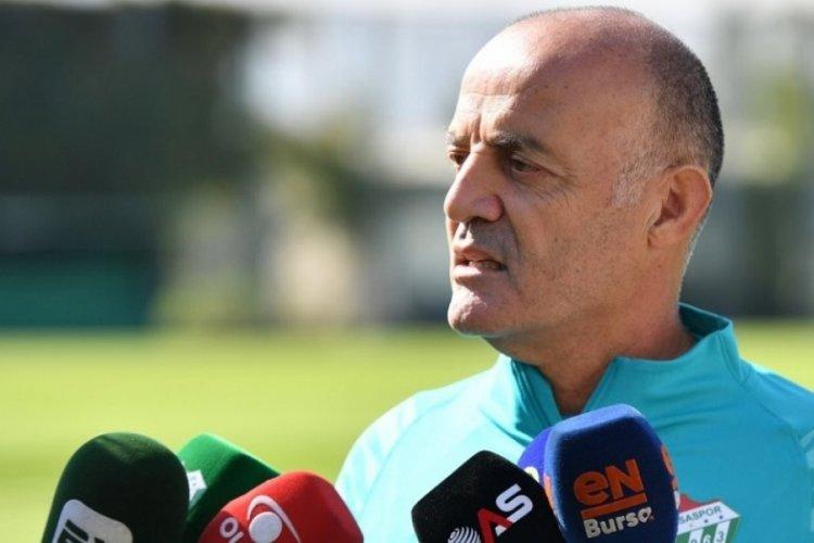 Bursaspor Teknik Direktörü Özcan Bizati: Önde oynamak, baskı kurmak istiyoruz