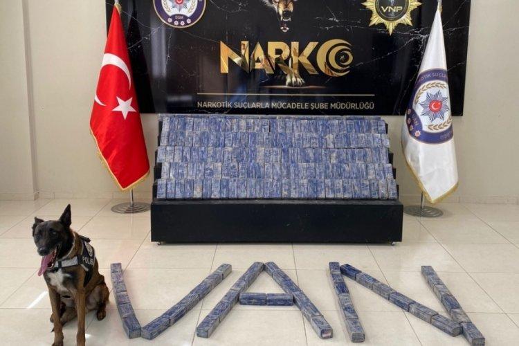 Van'da otomobildeki 101 kilo eroini narkotik köpeği 'Magnum' buldu