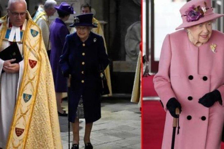 Kraliçe Elizabeth bir hafta içinde ikinci kez bastonla görüntülendi