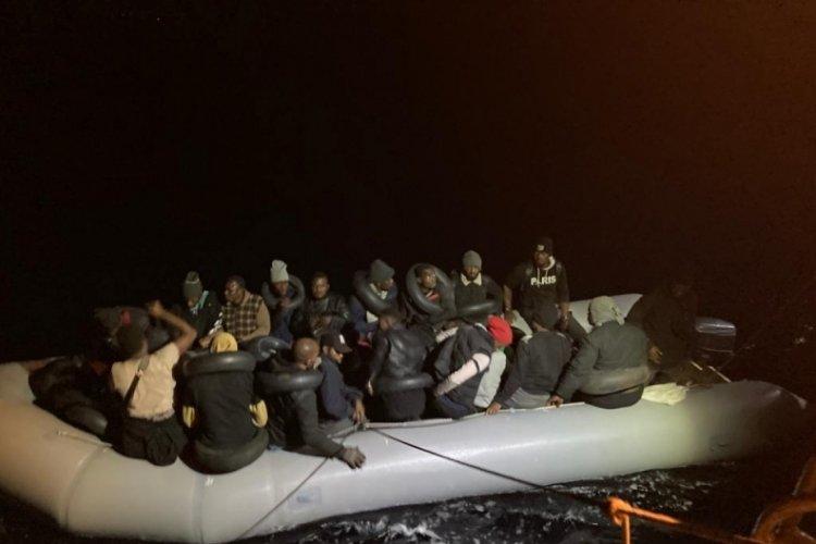 Fethiye'de 36 kaçak göçmen kurtarıldı