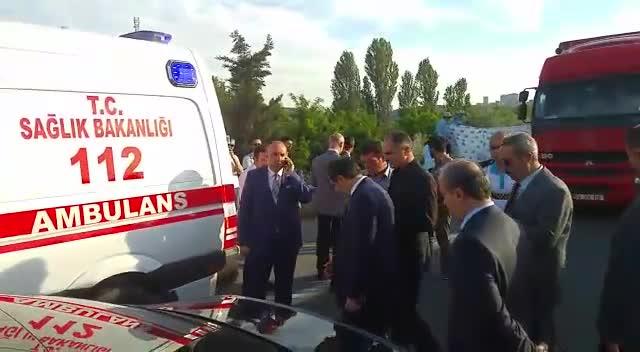 Bursa'da polis ekibine TIR çarptı! 1 polis şehit