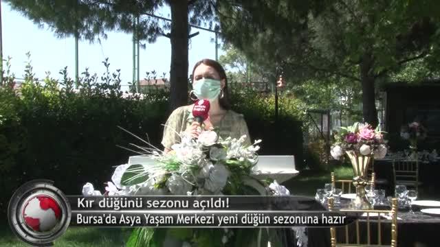 Bursa'da kır düğünü sezonu açıldı! (ÖZEL HABER)