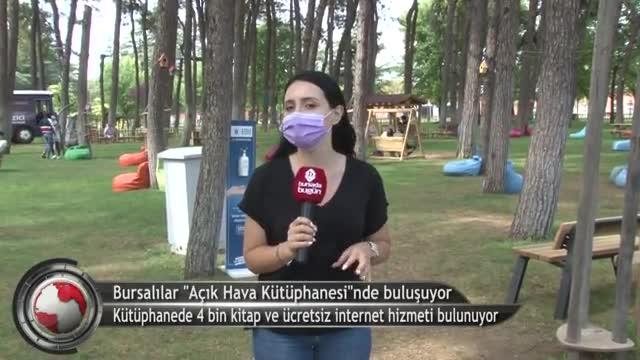 Bursalılar 'Merinos Açık Hava Kütüphanesi'nde buluşuyor! (ÖZEL HABER)