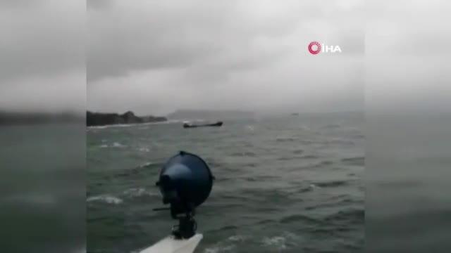 Kuru yük gemisinin batma anı kameralara böyle yansıdı