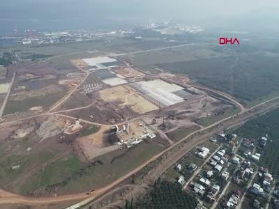 Bursa'da TOGG fabrikasının inşaatı havadan görüntülendi