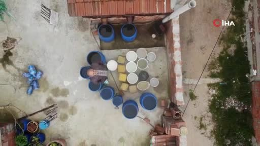 Bursa'da yağmur sularını biriktirip tasarruf ediyor