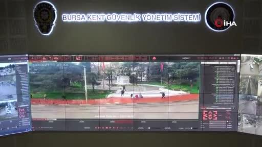 Bursa'da kurallara uymayanlar MOBESE kameraları tarafından tespit ediliyor