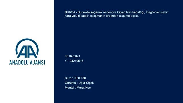 Bursa'da yağış sebebiyle kapanan yol 5 saat sonra açıldı
