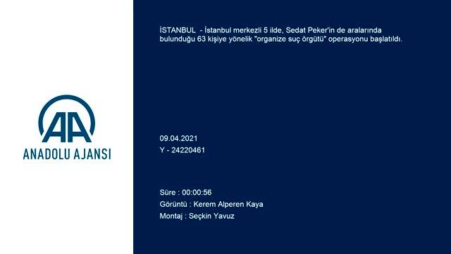 5 ilde Sedat Peker'in elebaşı olduğu belirtilen organize suç örgütüne yönelik operasyon