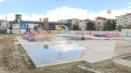 Bursa'da yeni metro istasyonunda çalışmalar hızlandı