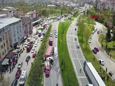 Bursa'da tır faciası! 1 ölü 2 yaralı
