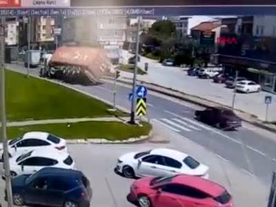 Bursa'daki TIR kazasının yeni görüntüleri ortaya çıktı