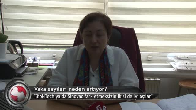 """Doç. Dr. İmran Sağlık: """"Şu anda Bursa'da vaka sayısı oldukça yüksek"""" (ÖZEL HABER)"""