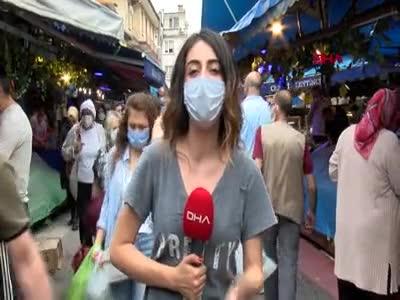 """Bursa'da pazar yerlerinde yoğunluk yaşandı: """"Pazara gelebilmek için mecburen yalan söyledim"""""""