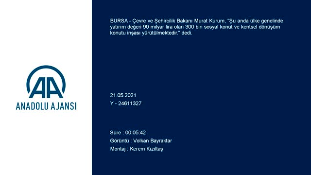 Bakan Kurum Bursa'da kentsel dönüşüm yıkım töreninde konuştu