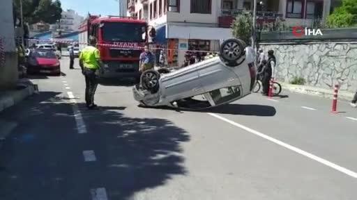 Bursa'da otomobil takla atarak durabildi: 1'i ağır 2 yaralı