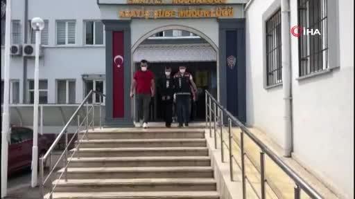 Bursa'da genç kadının arka cebindeki telefonu çalan kapkaççı adliyeye sevk edildi