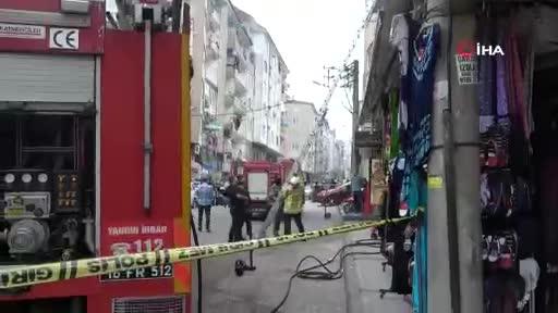 Bursa'da itfaiyecilere bıçaklı tehdit