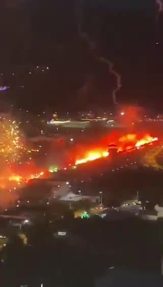 Bursaspor taraftarından görkemli kutlama