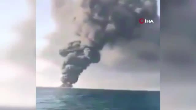 İran donanmasının en büyük tonajlı gemisi battı
