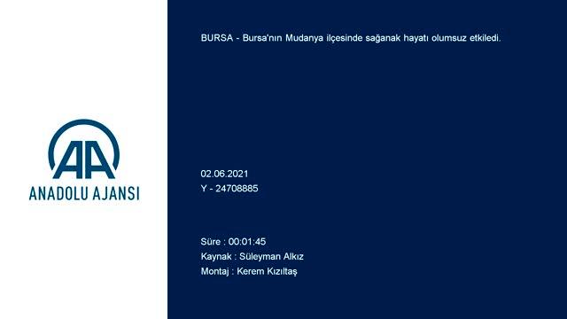 Bursa'da iki ilçeyi sel aldı!