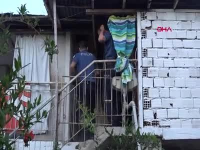 Antalya'da gasp için girdiği evde böyle yakalandı