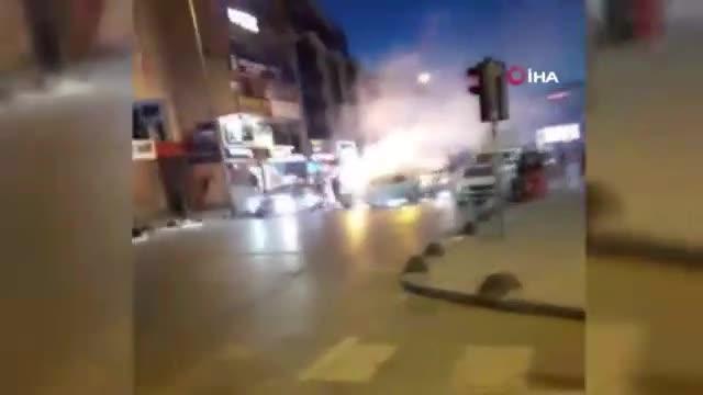 Asker eğlencesinde polisi görünce kaçtılar