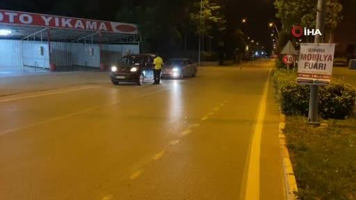 Bursa'da polisin alkollü sürücü ile imtihanı