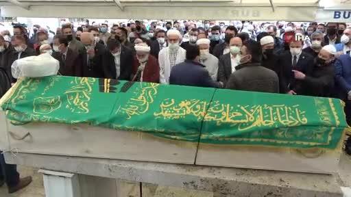 Bursa'da koronadan ölen imam son yolculuğuna uğurlandı