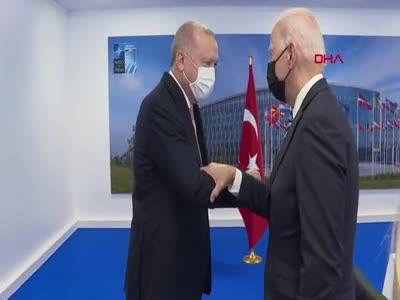 Erdoğan ve Biden görüştü