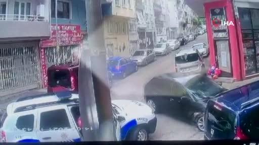 Bursa'da polise çarpan sürücü böyle yakalandı