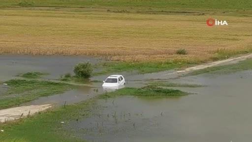 Bursa'da baraja daldı, otomobili bırakıp gitti