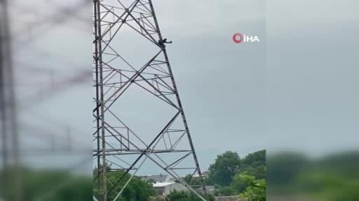 Bursa'da yüksek gerileme çıkan kişi, 15 metreden aşağı atladı
