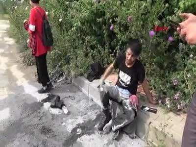 Bursa'da tanımadığı kişiler tarafından ayağından vurulan genç baygınlık geçirdi