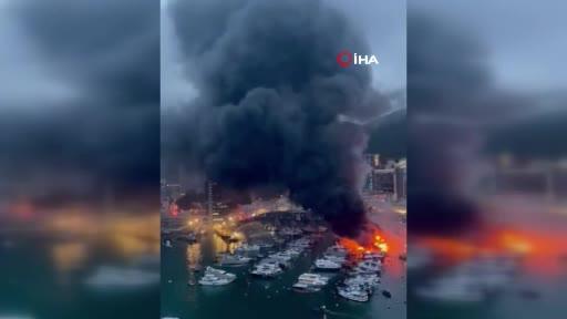 16 tekne alev alev yandı