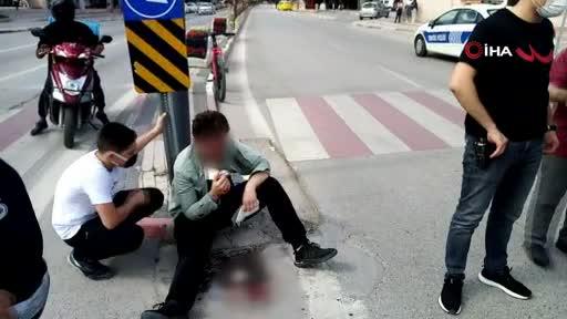 Bursa'da kaykaycı genç kanlar içinde kaldı