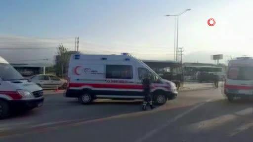 Bursa İnegöl'de kaza: Karayolu ulaşıma kapandı