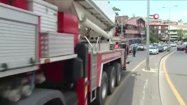 Ankara'da 35 katlı bir binada yangın çıktı