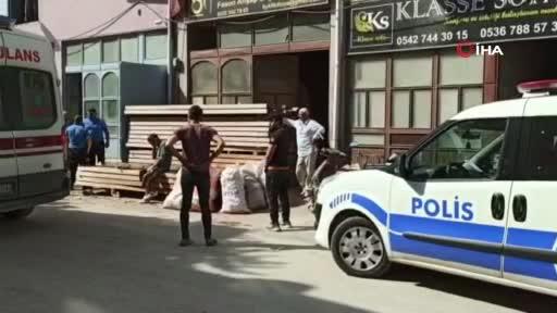 Bursa'da halatı kopan yük asansörü çakıldı: 1 ağır yaralı