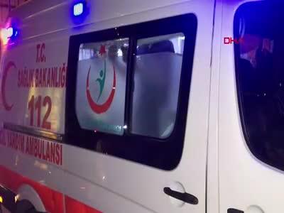 Bursa'da önce direğe çarptı sonra da metrelerce savruldu